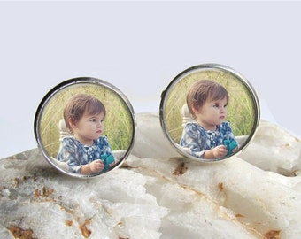 Custom Cufflinks, Photo Cufflinks, Mens Cuff links, Groom Cufflinks