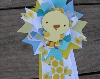 baby shower duck-duck corsage Rubber Duck Baby Shower