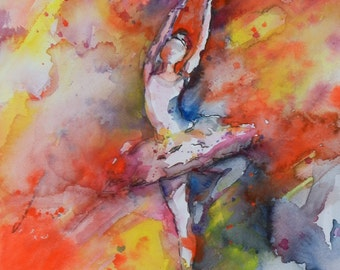 Ballerina, Ballet Dancer Print, Ballet Watercolor, Ballerina Painting, Prints