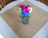 Burlap Table Square, Wedding Table Squares, Table Overlays, Sizes 24 x 24 or 30 x 30, Table Topper, Country Wedding, Barn Wedding Decor