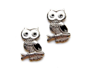 Owl Cufflinks - Gifts for Men - Anniversary Gift - Handmade - Gift Box Included