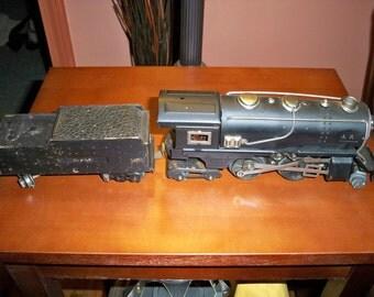 "Vintage 1930's American Flyer 3 Rail ""O"" Gauge 401 Engine and Tender"