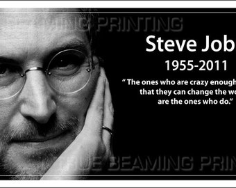 """6""""x11 and 9""""x12"""" STEVE JOBS Apple iPhone 4S 'Think Different' Premium Glossy Posters & 4""""x6"""" Postcard"""