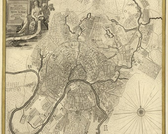 1775 Map of Moscow