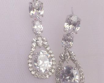 Wedding Earrings, Bridal Earrings, Bridal Earrings Crystal, Weddings Australia