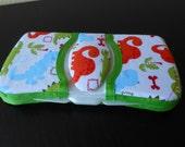 Baby Wipes Case Travel Size Dinosaur Print Flip Top Case