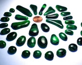 Green Glass Kiln Formed Mosaic Tiles 38 Pieces (499)