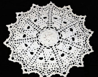 Small Crochet Doily, Mini Pineapples, 6-3/4 Inches