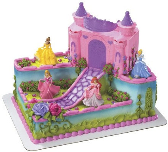Disney Princess Castle Cake Decoration by sweetcreationsparty