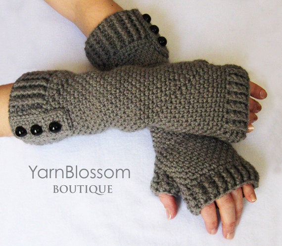 Fingerless gloves CROCHET PATTERN, women's gloves, crochet gloves, PDF pattern, crochet tutorial, winter mittens, arm warmers