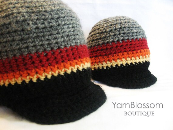 CROCHET PATTERN Boy Visor Hat (5 sizes included from newborn-adult) Instant Download