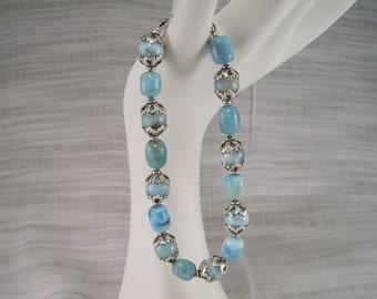 Lovely Larimar and Sterling Silver Bracelet 220BA