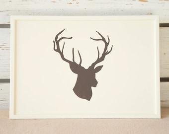 Lap Desk - Hand painted Deer head - Antler - on Desk - Custom Order