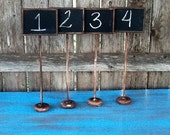 Set of 20 Chalkboard Table Numbers Name Cards Rustic Vintage Painted Distressed Shabby Chic Wedding Chalkboards