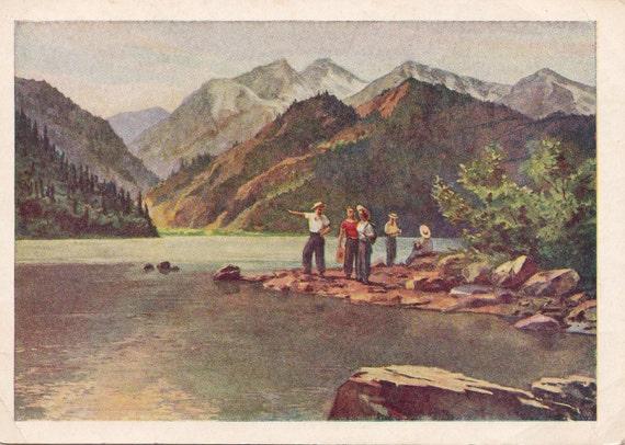 Vintage (Kazakhstan. Lake Issyk) Postcard - 1955
