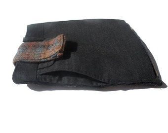 Repurposed Tweed Kindle - Nook - IPad Mini Case/Sleeve - e reader- gadget case