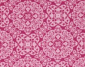 LAMINATED cotton fabric by the yard - Vintage Ironwork Berry coated vinyl fabric yardage (aka oilcloth fabric) WIDE BPA free