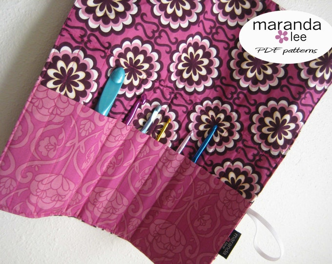 Crochet Hook Roll Pattern PDF - Crochet Hook Case Clutch Sewing Pattern to Download - Boutique - Email