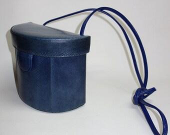 SAKS  Blue Karung Snake Bucket Bag