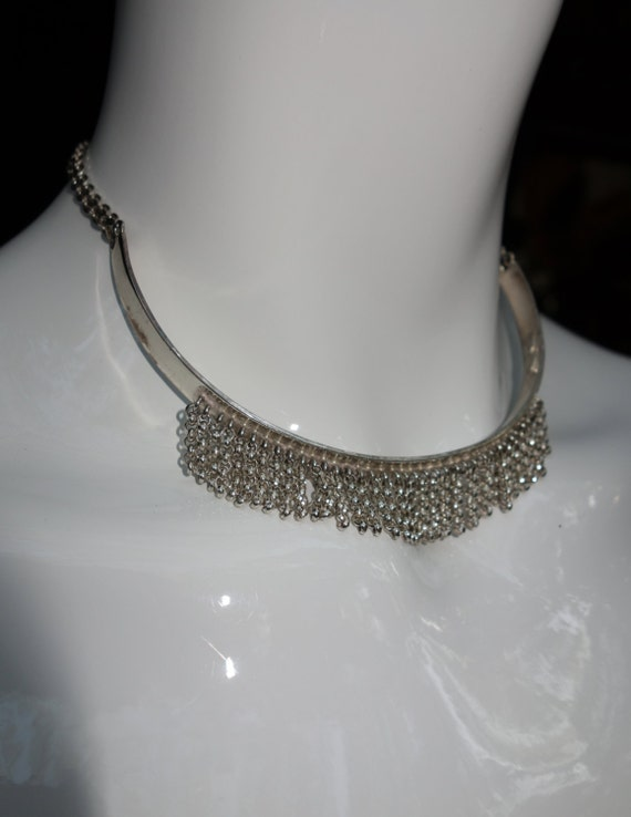 Vintage GIVENCHY Sterling Silver Choker Necklace