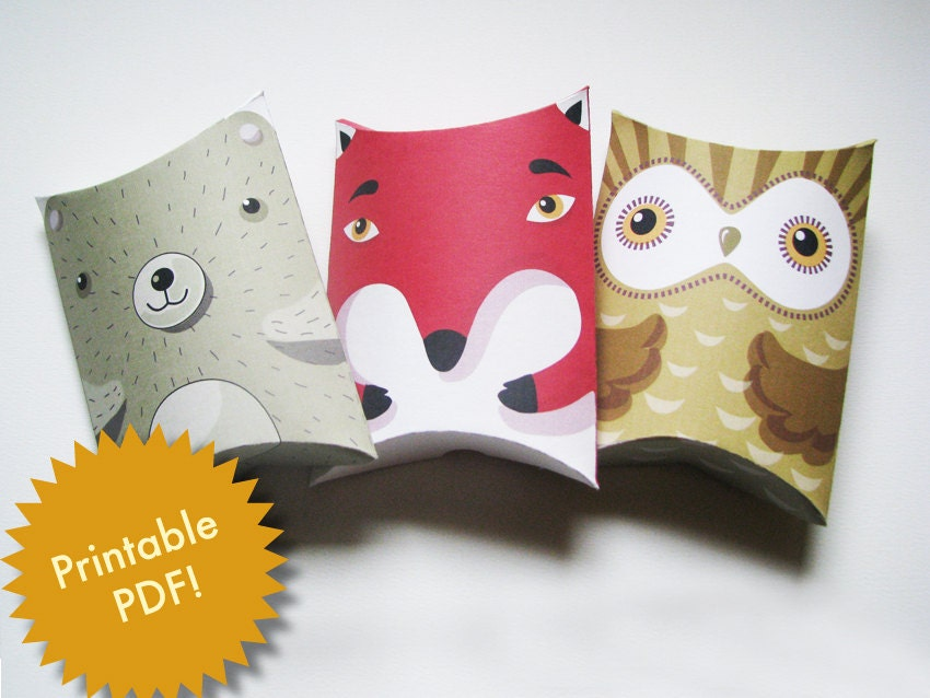 Free printable owl pillow boxes craftbnb free printable pillow gift boxes pronofoot35fo Images