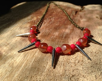 Vibrant Spike Statement Necklace