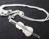 Fiddle violin necklace Violinist ORchestra Music Miniblings