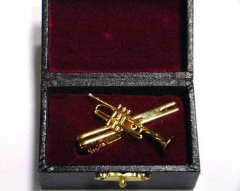 Trumpet Tie Clip Etsy