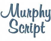 """Murphy Script Machine Embroidery Font - Sizes 1"""",2"""",3"""",4"""" BUY 2 get 1 FREE"""