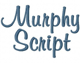 "Murphy Script Machine Embroidery Font - Sizes 1"",2"",3"",4"" BUY 2 get 1 FREE"
