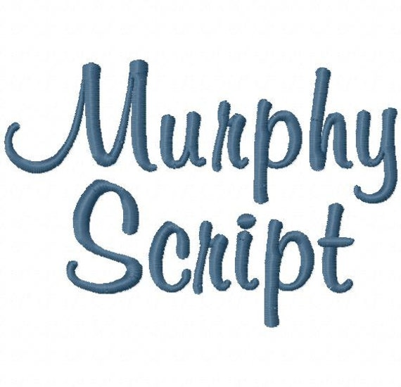 Murphy script machine embroidery font sizes