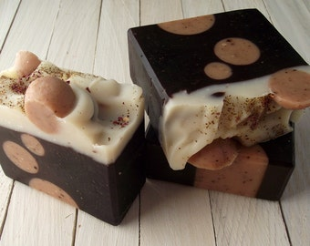 Homemade Soap - Chocolate and Roses Soap - Handmade All Natural Soap with Cocoa Butter