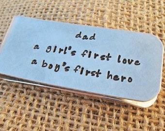 Money Clip - Gift for man - Dad money clip - Personalized money clip for Dad - Father's Day Gift for Dad