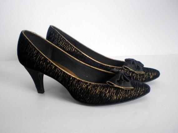 vintage 80s shoes heels pumps prom by bellavivevintage