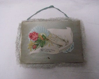 Victorian Fringed Satin Birthday Card