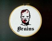 Zombie Brains - Cross Stitch Pattern
