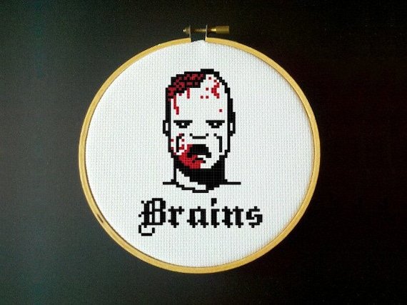 Zombie Brains - Cross Stitch Pattern