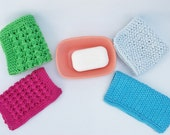 Face wash cloths pdf knitting pattern. 2 styles and 2 sizes.