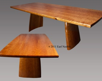 Dining table, curly cherry