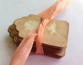 50 XS Vintage Tags. Anthropologie Wedding Favor Tag. Price Tag. Jewelry Tag. Gift Tag. Antique. Wedding. Rustic. Shabby. Chic. Extra Small