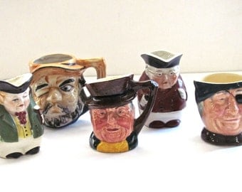 Toby Character Mugs - Set of Five