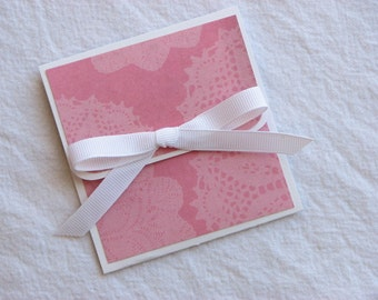 Soft Pink Doily Valentine's Day Gift Card Holder