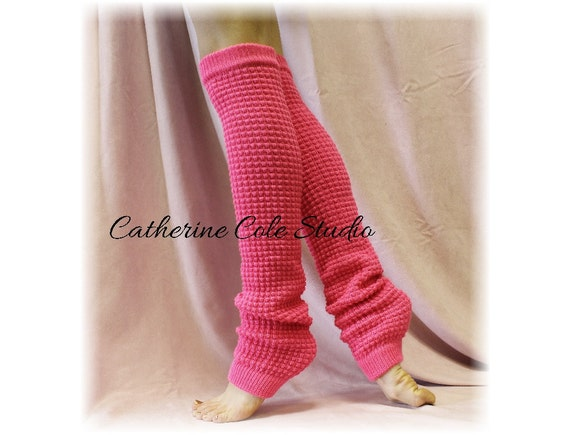 Knitting Patterns Leg Warmers Ballet : DANCE CRUSH Pink Leg warmers knit by ForeverLaceBoutique on Etsy