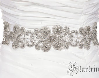SALE MILEY crystal wedding bridal sash belt