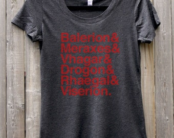 Game of Thrones -- Targaryen Dragons -- Women's Scoop Neck Tee Shirt
