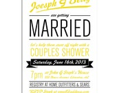 couples shower or engagement party invitation - shindig -DIY printable by YellowBrickStudio