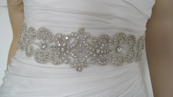 "wedding belt bridal sash,wedding belt and sash bridal,crystal bridal sash,- ""ANA"""