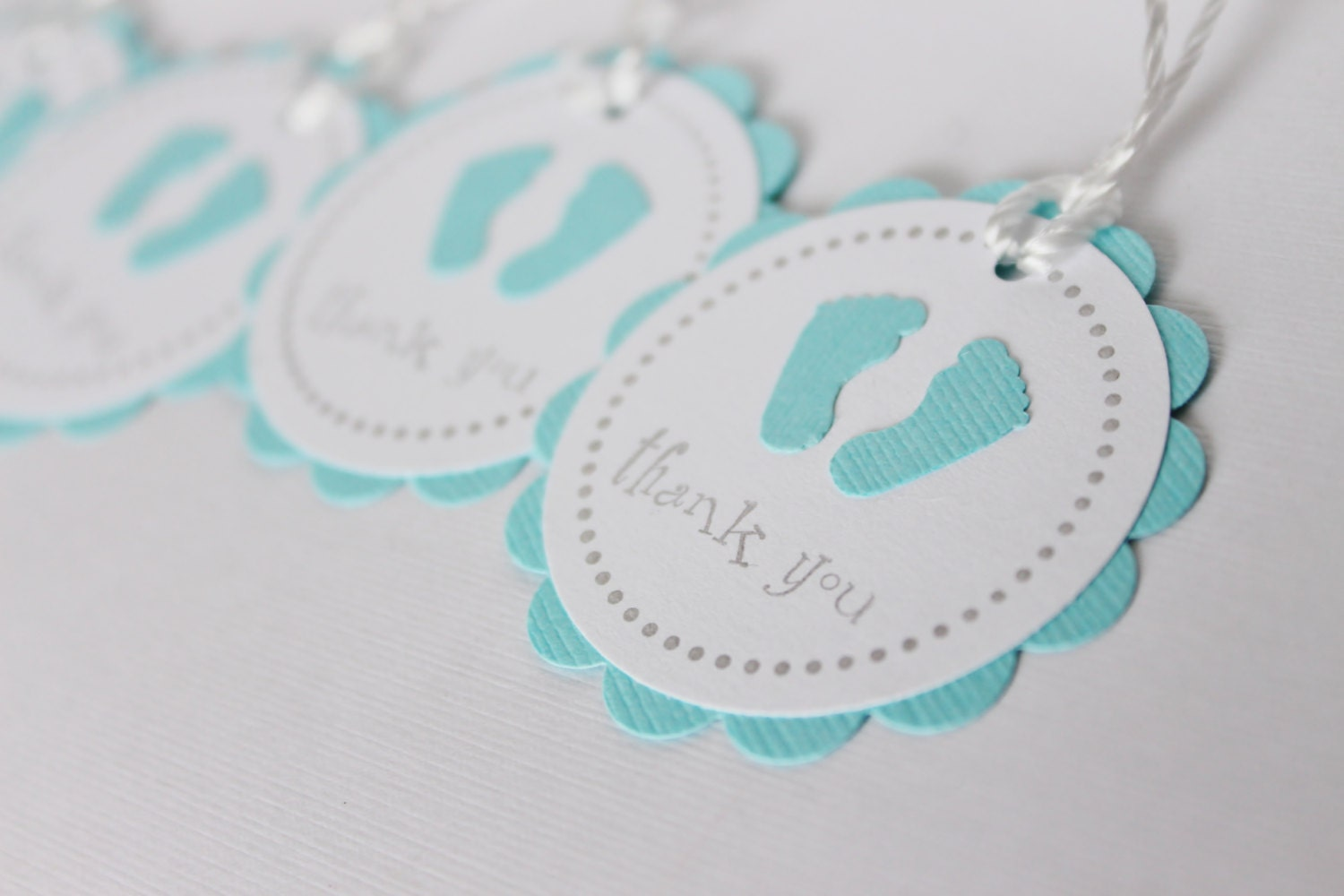 baby shower favor tags baby feet thank you tags by wildbeanlore