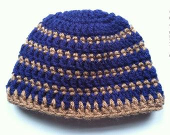 Striped preemie hat