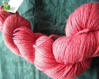 Alpaca Merino Silk Worsted wt 250 yds red varigated